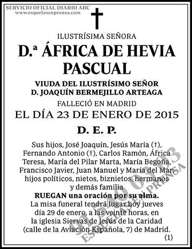 África de Hevia Pascual